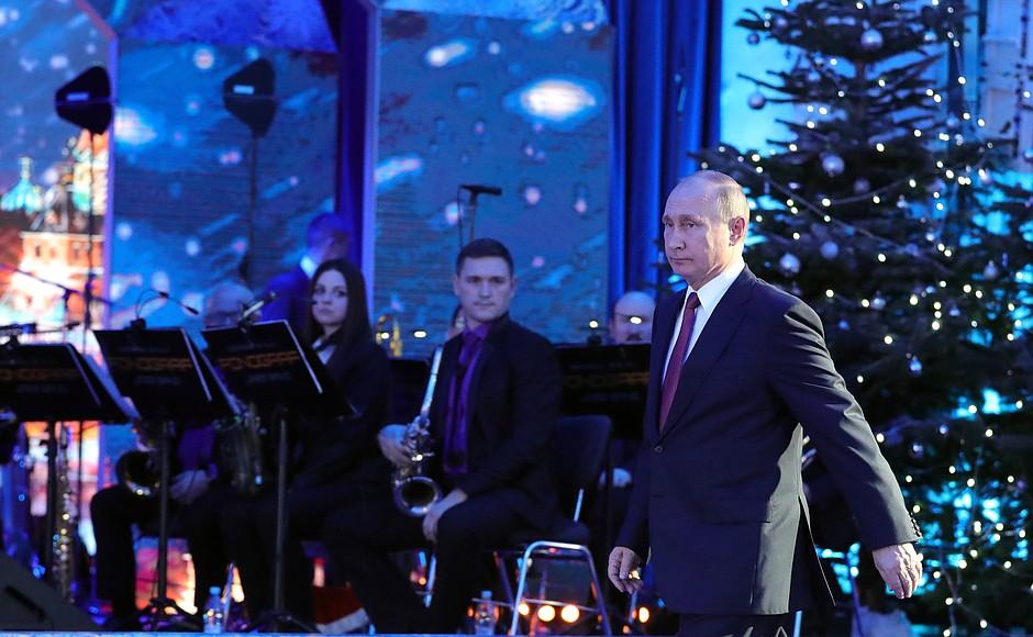 Новогодний прием в кремле, В.В. Путин